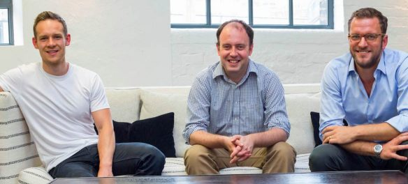 Disruptive Technology team: The three founders of nested